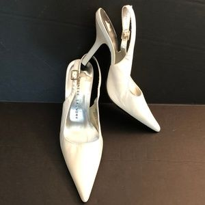 Chinese Laundry White High Heel Slingback Pumps